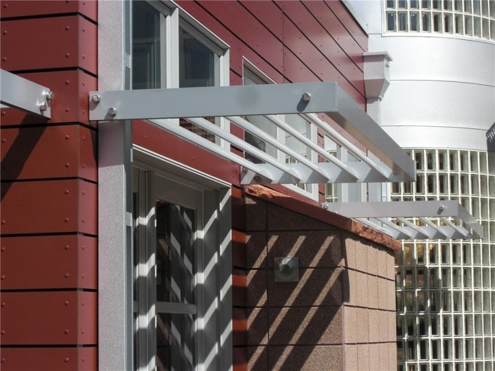 Aluminum Sunshade over Window