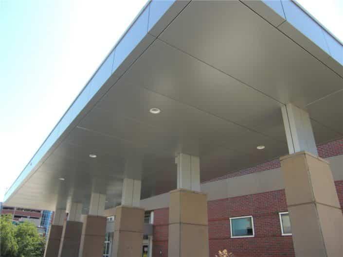 aluminum composite panel canopy gas station