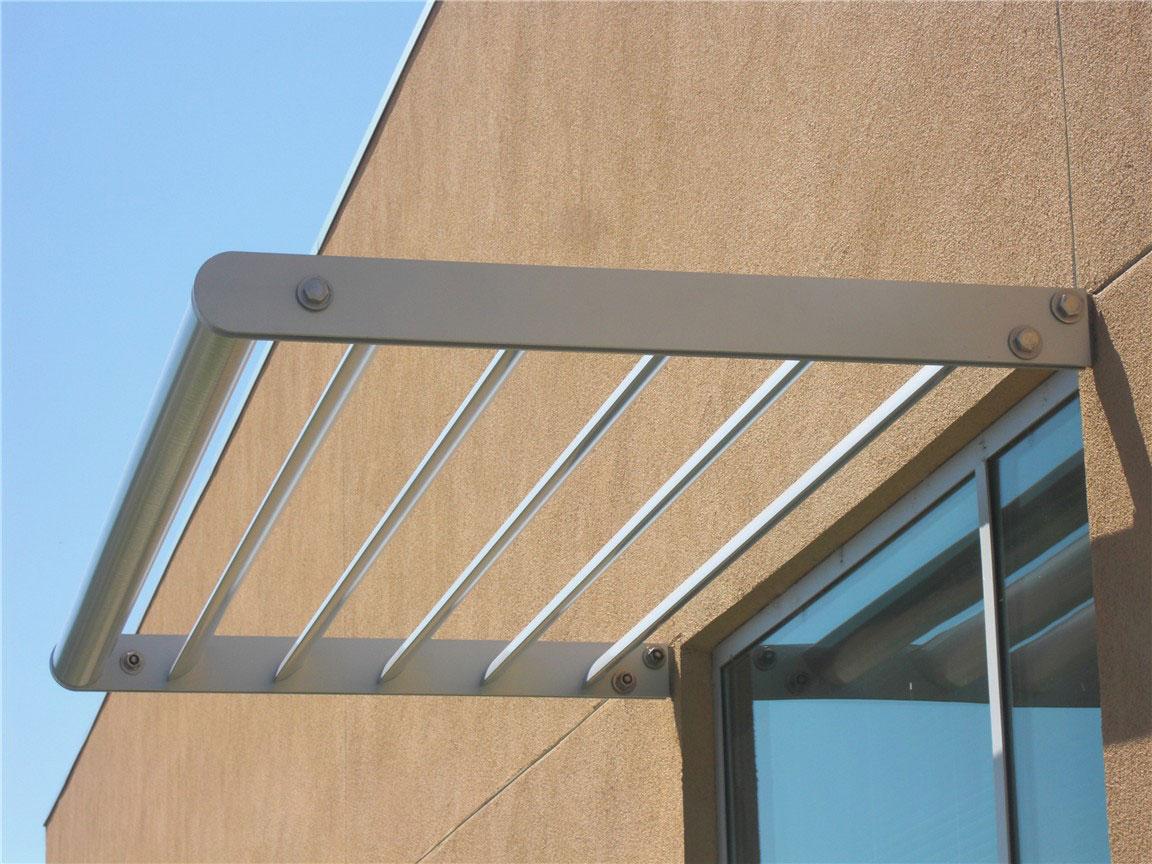 aluminum sunshades   sunscreens   h&h metals - custom designed