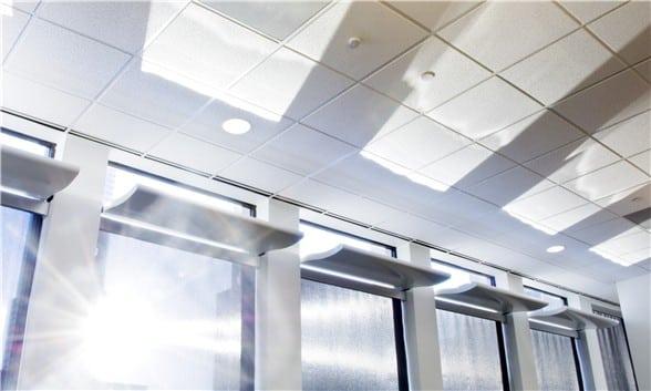 Light Shelf installed in single windows.