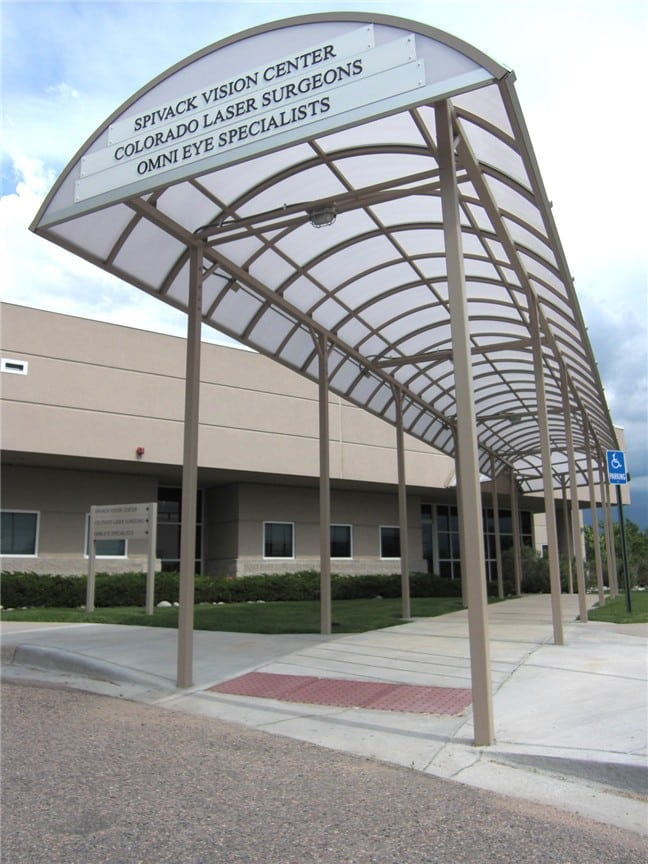 metal entrance canopy