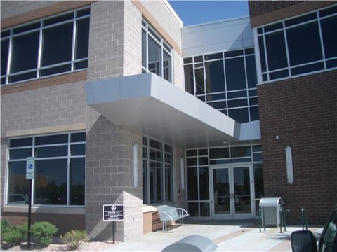 aluminum composite panel canopy office 2