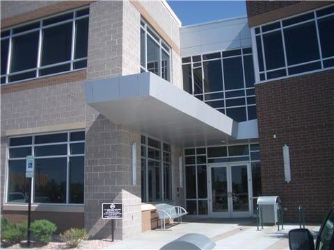 aluminum composite panel canopy office 2