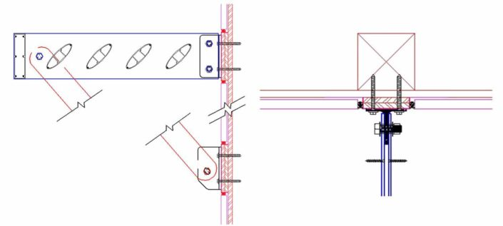 Sunshade clip to wood framing