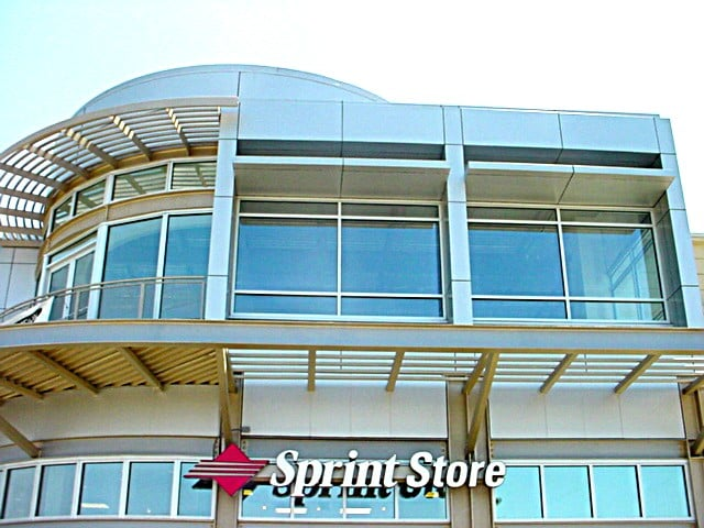 aluminum composite panel canopy retail