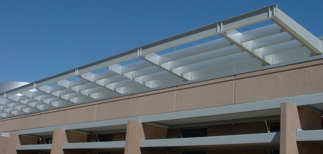 Aluminum Sunshades Sunscreens H Amp H Metals Custom Designed