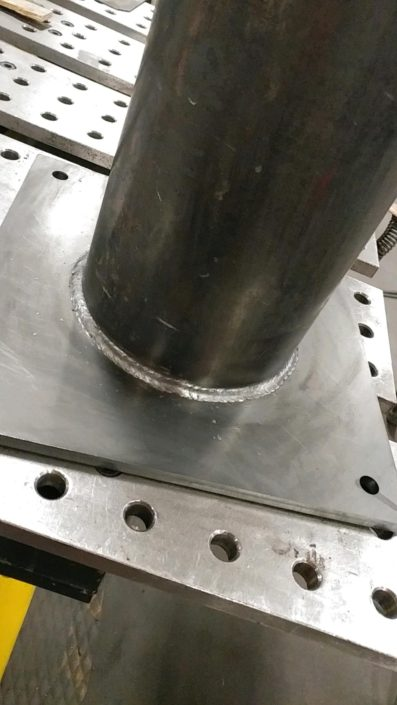 Pipe Welded to Base