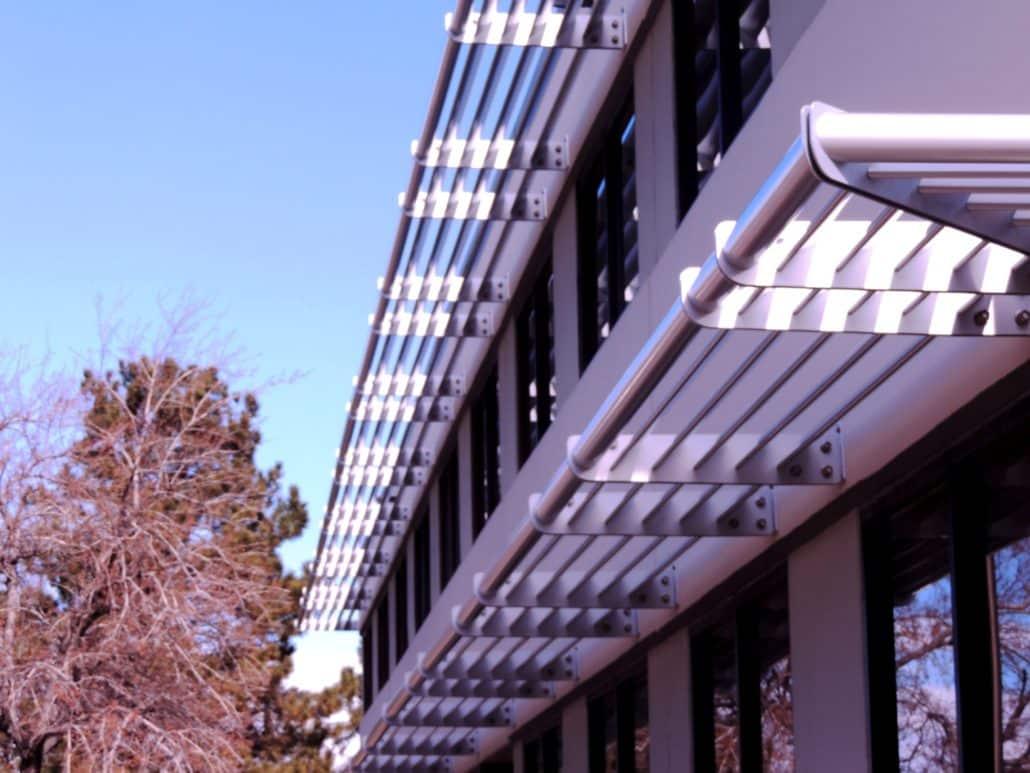 Aluminum Sunshades Sunscreens H Amp H Metals Custom Designed